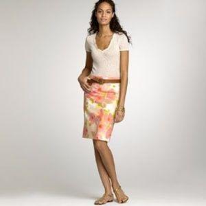 J. Crew Skirts - J CREW Watercolor Floral Pencil Skirt 0